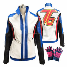 OW Game Hero Soldier 76 Cosplay Costume Video Game Cosplay Adult Men NO. 76 Jacket Halloween Costume for Men Custom Size