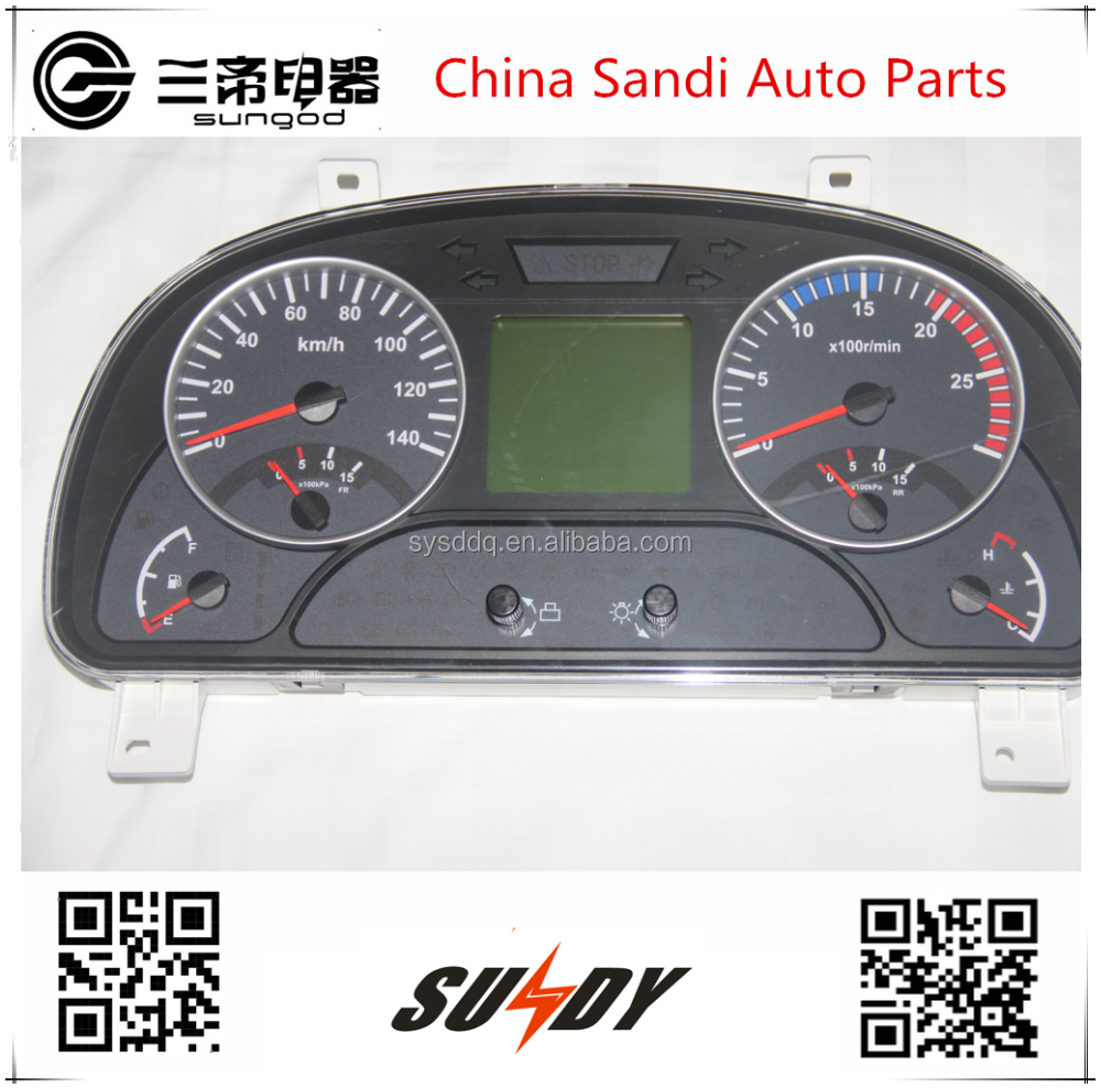 Original DCEC Auto instrument cluster 3801030-C4302 for 24v Dongfeng trucks