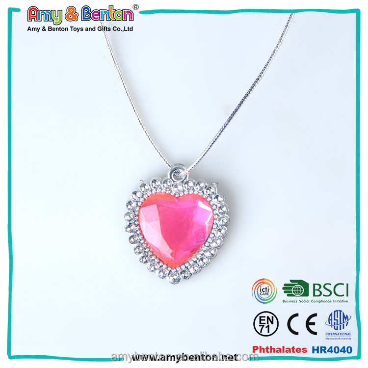 Cheap party supplies wholesale hong kong kids pendant necklace
