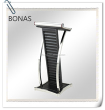 Stainless steel podium with PU leather, smart podium