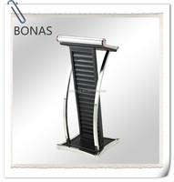 Stainless steel podium with PU leather