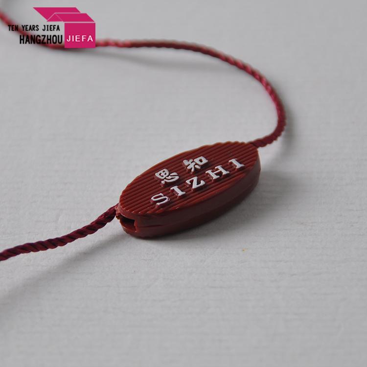 Logo Custom Plastic Seal Tag For Garment