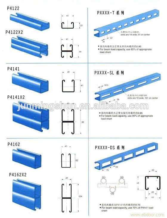 Steel Channels / C Channel Purlins Specification / Double C Channel