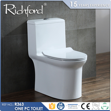 Watermark Certificated Water Ratting One Piece Wall Drain Rimless toilet harga