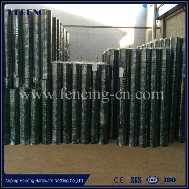 "4"" X 2"" PVC Coated Welded Wire Mesh Fence / PVC Coated Holland Wire Mesh Fence & Dutch Woven Wire Mesh"
