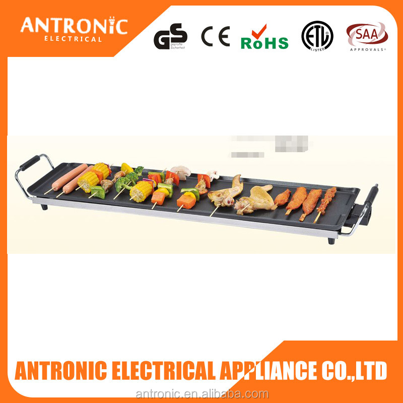 Antronic top quality square table top electric grill 70x22cm with cheap price
