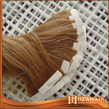 Top quality wavy hair human double drawn tape hair extensions tape in