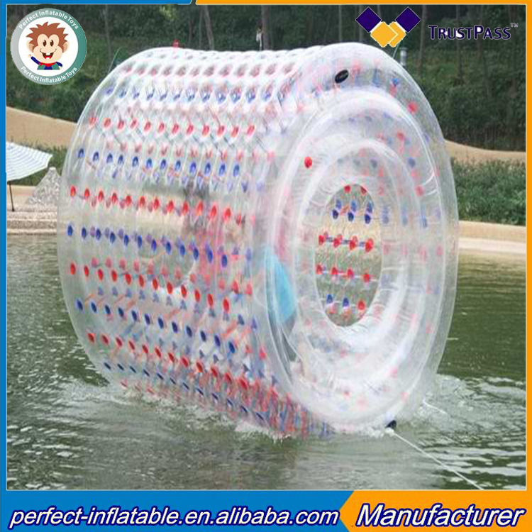 Factory price inflatable water roller ball inflatable funny water games for adult