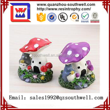 Custom resin mushroom fairy house model miniature house