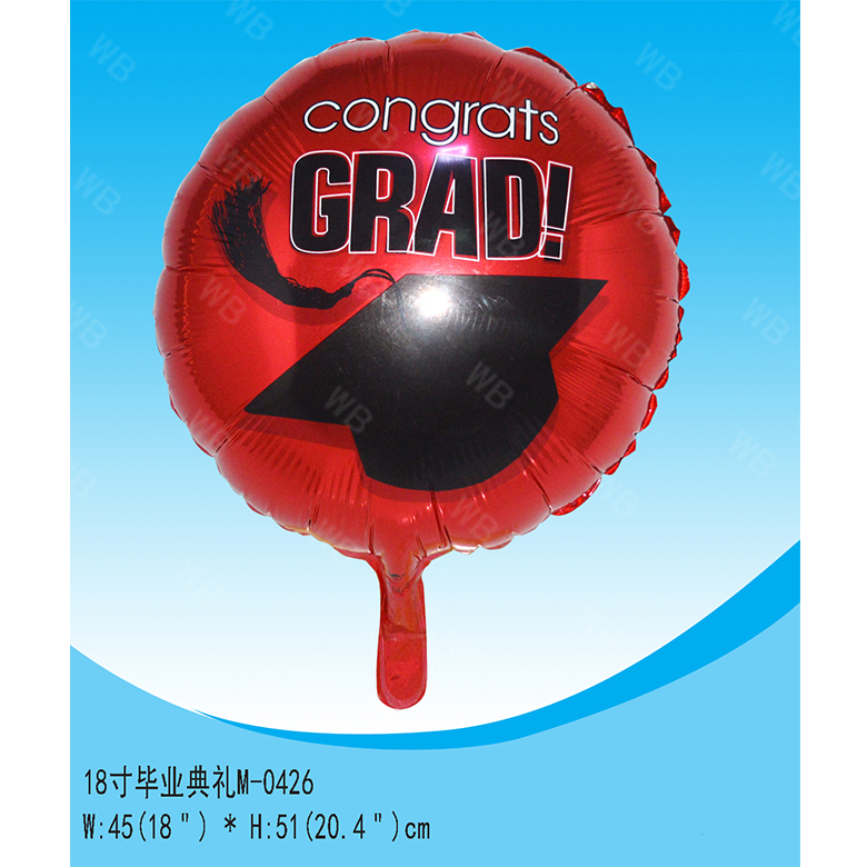 Wholesale low price printing projection graduation balloon