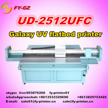 High precision uv led flatbed inkjet printer/digital large format UV glass printing machine price for galaxy UD 2512UFC