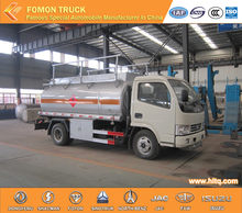 hot selling DongFeng Brand 4X2 4000L Chemical Liquid Tank Truck 4M3 Oil Storage Tank 99HP Euro 4