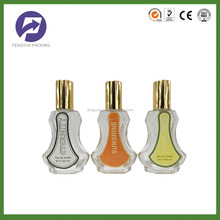 30ml body shaped perfume glass bottle with aluminum pump and sprayer