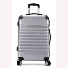 Hot selling ABS zipper trolley luggage up-right luggage suitcases