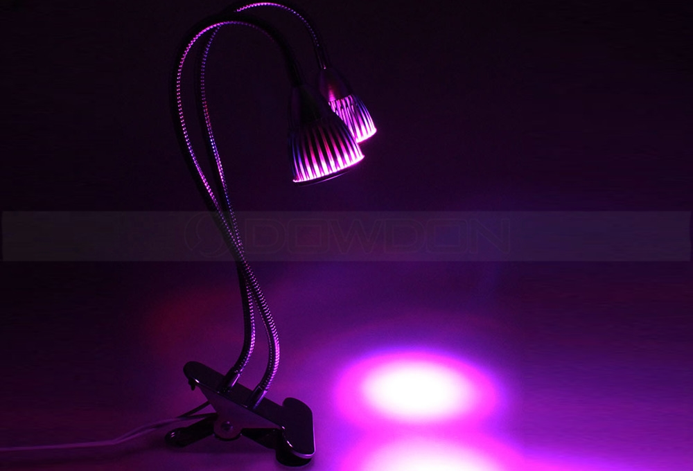 360 Degree Gooseneck Double Switches LED Grow Light for Indoor Plants