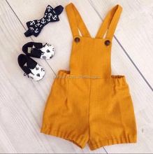 Custom Sleeveless Cotton Plain Baby Rompers Newborn Girl Summer Clothing