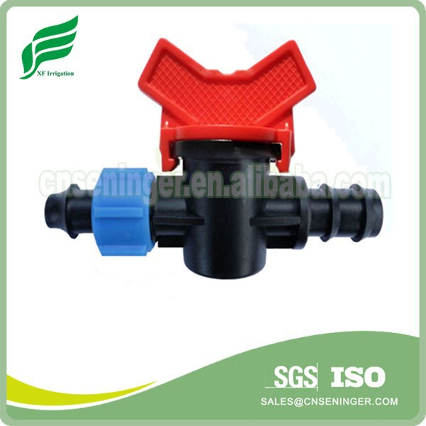Barb Lock Offtake Irrigation Plastic Mini Valve LDPE Pipe and Dripline