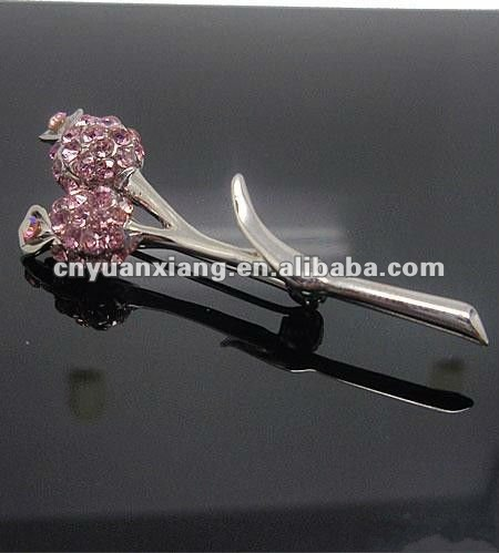 Wholesale crystal handmade pink hijab pins