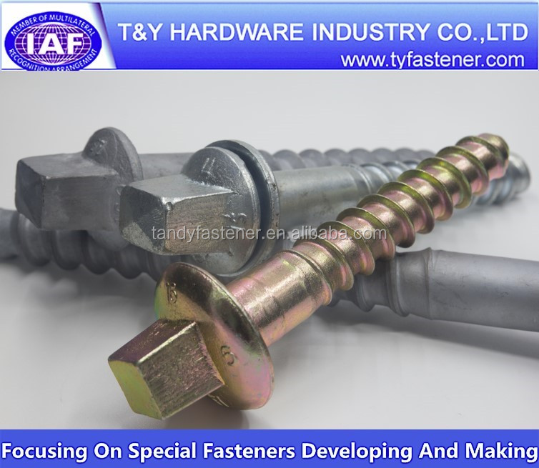 tapered-screw-plug railway equipments railway drive spike