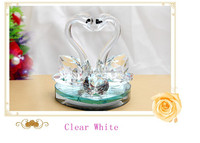 Crystal wedding gifts crystal swan for wedding gifts in china