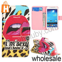Wallet Leather Case for Samsung Galaxy S4 Mini, Magnetic Flip Stand TPU+PU Leather Case For Samsung Galaxy S4 Mini i9190