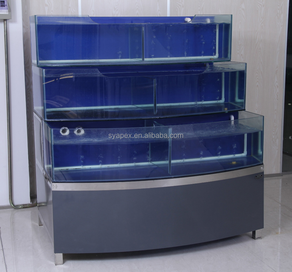 APEX custom make supermarket or restaurant live fish aquariums