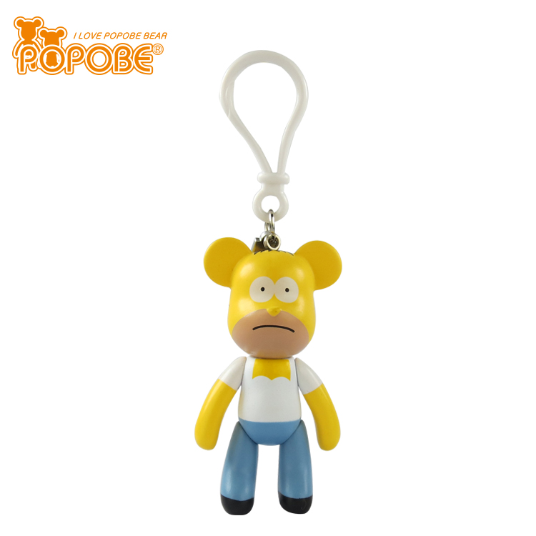 2017 New Product Vinyl Toy Action Figure Buckle PVC Key Chain