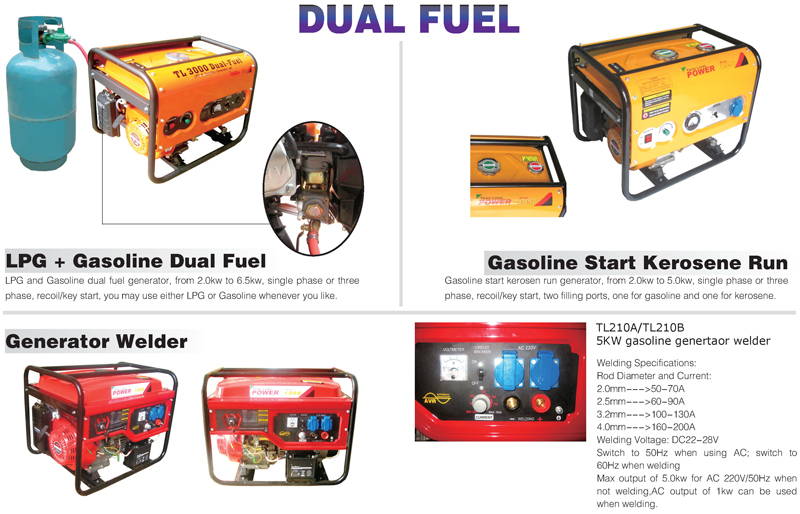 Factory direct 2kw portable gasoline generator price