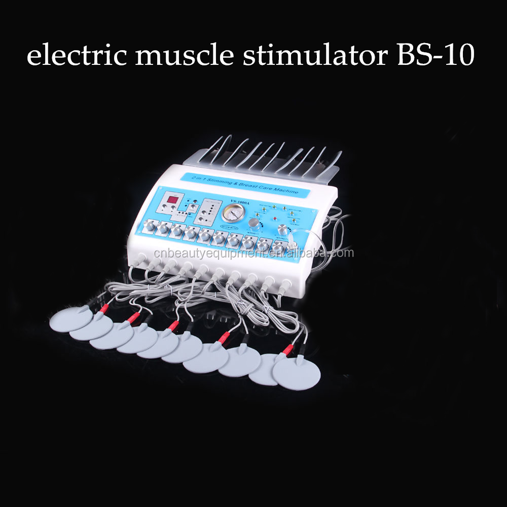 Professional fitness EMS Electro stimulation machine combining infrared slimming and electronic muscle stimulator BS-10