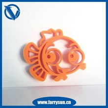 2015 Hollowing Silicone key pendants