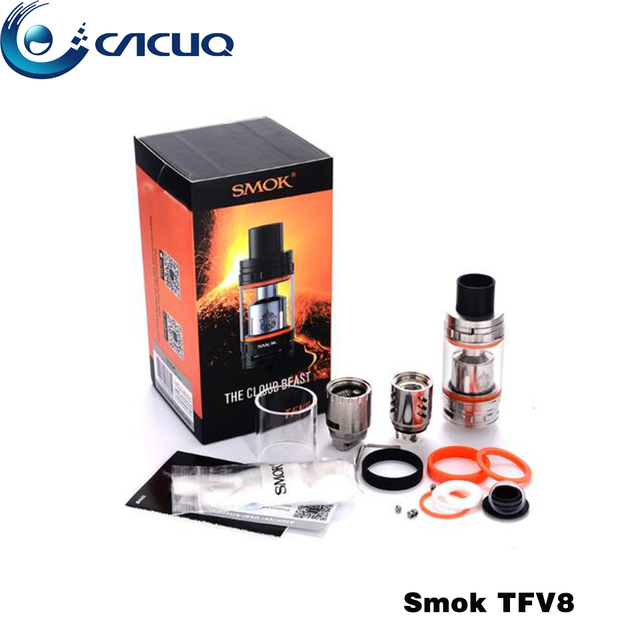 Original Smok TFV8 5.5ml / 6ml Top filling  Airflow Control Cloud Beast Tank T8-V8 T8-Q4 Coil for RX200S