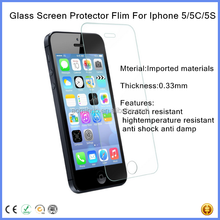 hot new products for 2015 2.5D 9H anti-scratches tempered glass screen protector round edge 0.33MM Ultrathin For iPhone 5 5S 5C