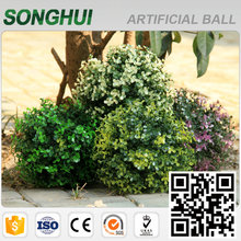 decoration cheap hanging artificial boxwood topiary balls in planter