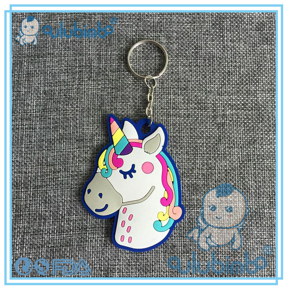 Cartoon characters of Unicorn Rubber key chain