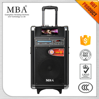"9"" Screen Outdoor mp4 karaoke battery speaker system with USB/SD/AVI/MPEG4/KARAOK/Game/led screen"