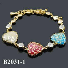 Fashion gold plating wholesale jewelry friendship Rose bracelets for women