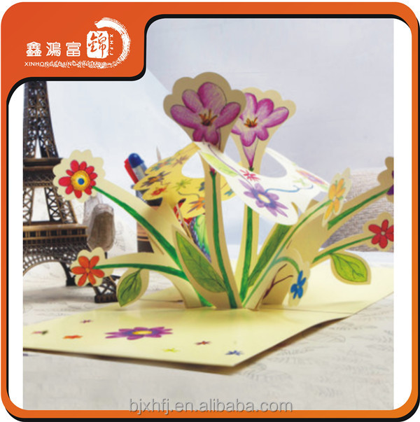 2014 hot sale cheap handmade 3d birthday card