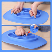 The new children 's silicone plate super - strong adsorption force explosion - proof practical appearance of the patent children