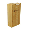 Trade Assurance Hand Made Wooden Wine Bottle Box Storage of 2 bottles