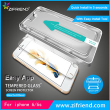 zifriend guangzhou EASY APPLICATOR tempered glass screen protector for iphone 6 / 6s
