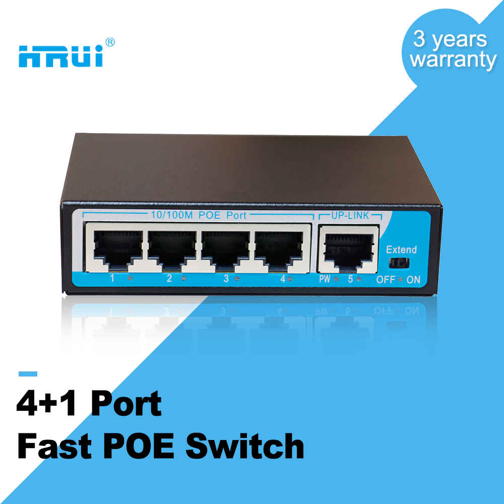 Very Cheap PoE Switch 4 port 10/100Mbps POE Ethernet Fast 48v Mini PoE Switch