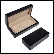 2016 new style wood gift pen box,wood pen packaging box, high glossy black wooden pen holder
