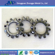 Stainless steel Zinc plated external Tooth Lock Washer