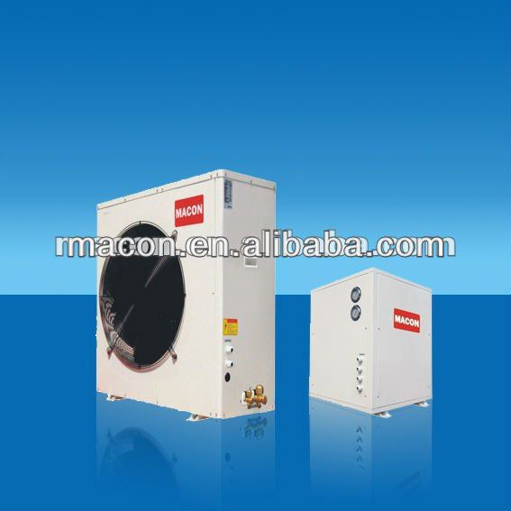 Air to water EVI heat pump split air conditioner