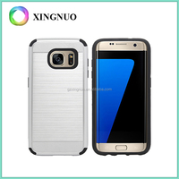 Dual Layer Hair Line Cover Rubberized Matte PC Case For Samsung Galaxy S7 Edge Case