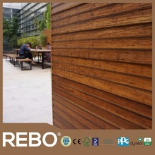 Outdoor Waterproof Strand Woven Bamboo Wall Panel Wall Cladding