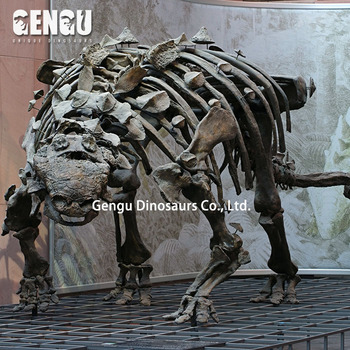 Shopping mall fiberglass dinosaur fossils model
