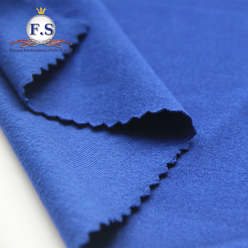 86.5/13.5 Poly/Spandex bright-colored weft knits interlock with backside slightly brushed high spandex