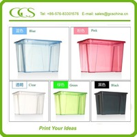stackable plastic container wall mounted plastic storage box with lid cover