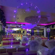 18cm Diameter LED Light Wedding Birthday Balloon Party Glassy Ball Love Decoration Balloon for Gift with String Lights
